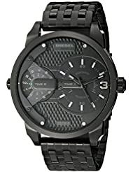 Diesel Mens DZ7316 Mini Daddy Black Stainless Steel Watch