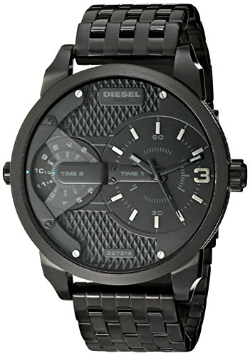 Diesel Men's DZ7316 Mini Daddy Black Stainless Steel Watch