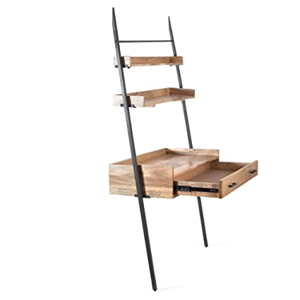 huge selection of 94af4 3993b Amazon.com: Madeleine Home Champier Ladder Desk with Shelf ...
