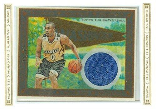 (Gilbert Arenas player worn jersey patch basketball card (Washington Wizards) 2009 Topps Murad #T51RGA LE 43/51)