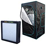 MarsHydro LED Grow Light (Mars II 900) Full Spectrum + Grow Tent (3' 3'' x3' 3'' x5' 11'' ) Full Complete Kits Units for Growing Plants and Vegetables,Only for Indoor