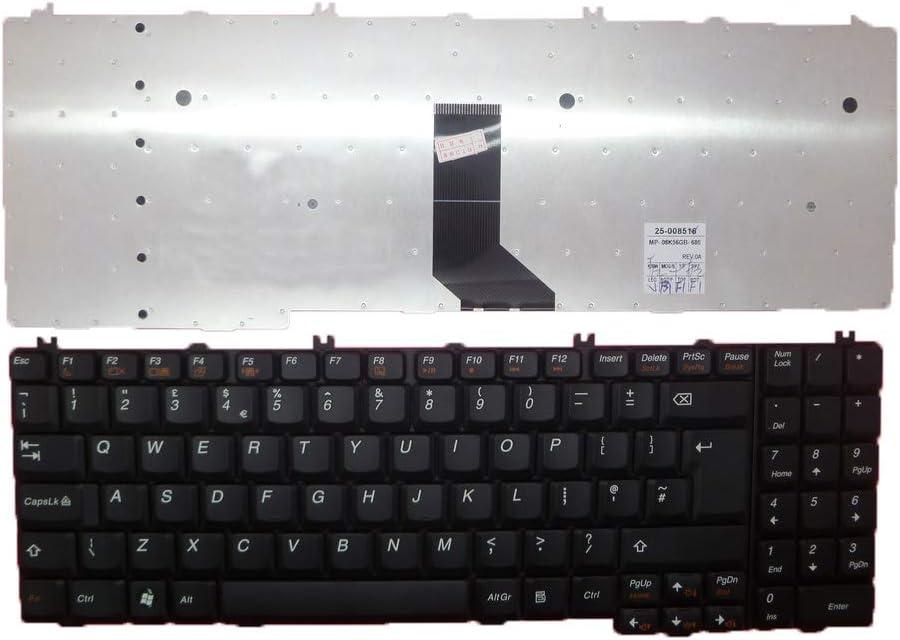 Laptop Keyboard for Lenovo Ideapad G550 G555 V560 B550 B560 B560A Black United Kingdom UK V-105120AK1-UK 25008516 MP-08K56GB-686 A3S-UKE MP-10C16GB-686 9Z.N4ZSC.00U