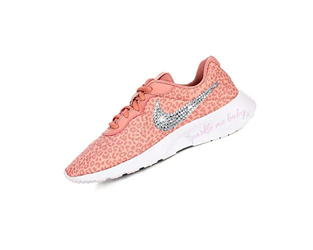 Amazon.com  Swarovski Nike Tanjun Coral Cheetah Girls Bedazzled Shoes Bling  Nike Customized for you by Sparkle Me Baby 2U  Handmade 5df7c98f53