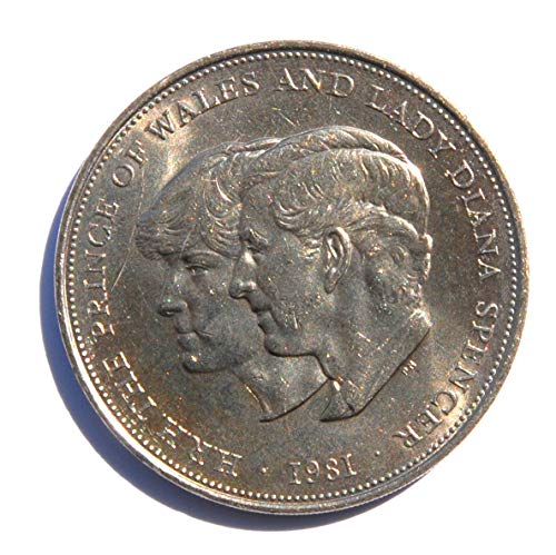 1981 UK Queen Elizabeth II - HRH Prince of Wales & Lady Diana Royal Wedding Commemorative Token Coin Coin Choice Very Fine Details