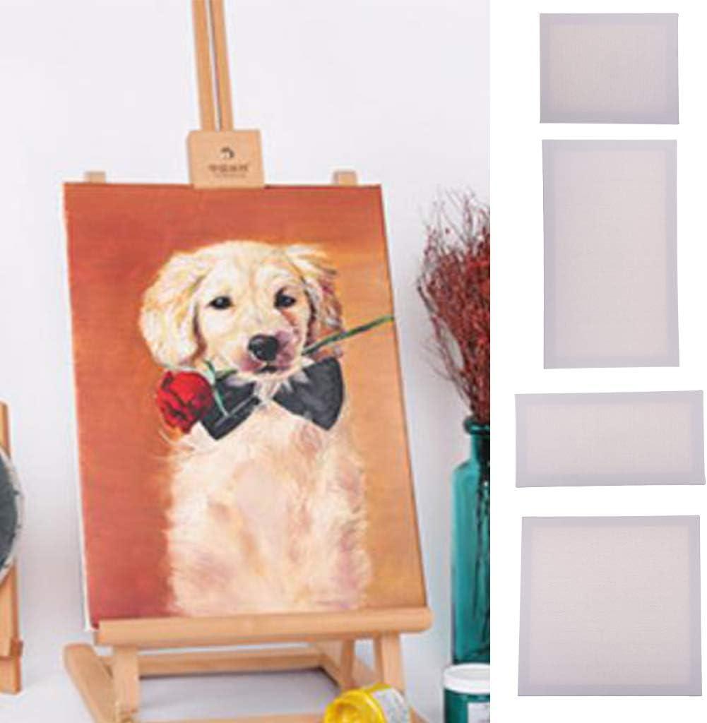 20x40cm Blanc SM SunniMix Toiles sur Chassis Panneaux /à Peindre Id/éal pour Artistes D/ébutants