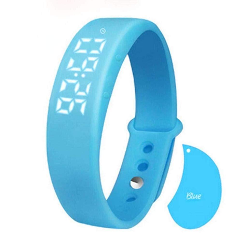 Fashion Clearance! Noopvan Pedometer Activity Tracker Sleep Monitor Temperature Bracelet Smart Watch with Alarm, Sleep Monitor, Pedometer,Calorie,Date (Blue)