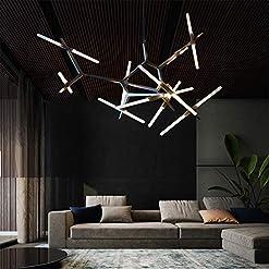 Interior Lighting Modern Industrial Chandelier Metal Glass LED Branch Chandeliers Pendant Lamp Light DIY Ceiling Fixtures for Living Room… modern ceiling light fixtures