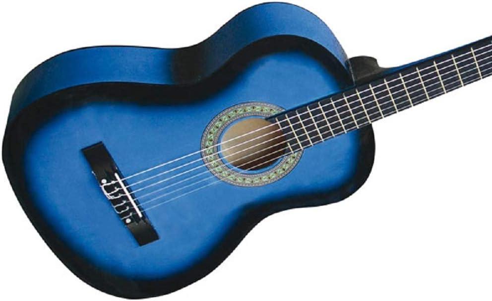 Guitarra española acústica - 4/4, de color azul, con 6 cuerdas ...