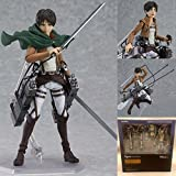 Rosy Women Figma 207 Attack On Titan Eren Jaeger Pvc Action Figure Collection Model Toy 14Cm