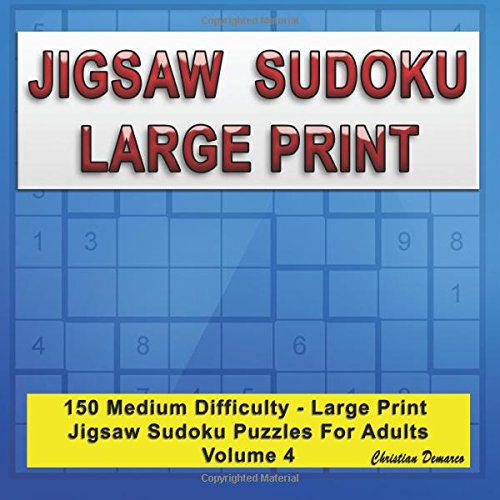 photograph about Jigsaw Sudoku Printable named Jigsaw Sudoku Hefty Print: 150 Medium Weighty Print Jigsaw