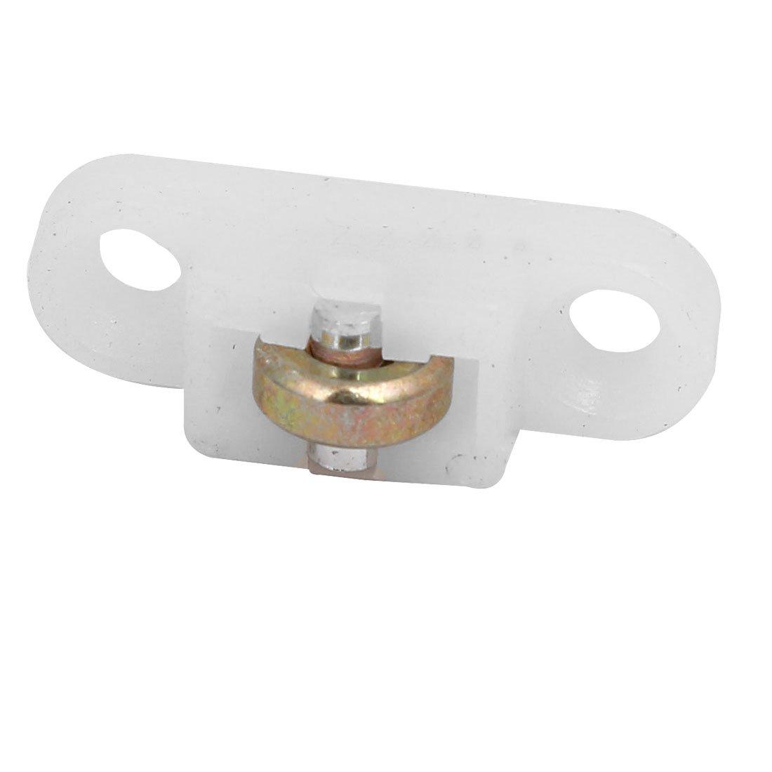 sourcingmap 28mmx9mmx11mm rouleau simple nylon poulie /écran Fen/être 20pcs blanc