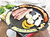 Queen Sense Korean BBQ Samgyeopsal Non-Stick All powerful Stovetop Grill Pan - Drain grease system