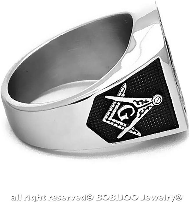 Bague Chevali/ère Homme Franc-Ma/çon Templier Croix Rouge Templi Signum Militi BOBIJOO Jewelry