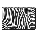 WOZO Animal Zebra Print Stripe Area Rug Rugs Non-Slip Floor Mat Doormats Living Room Bedroom 31 x 20 inches