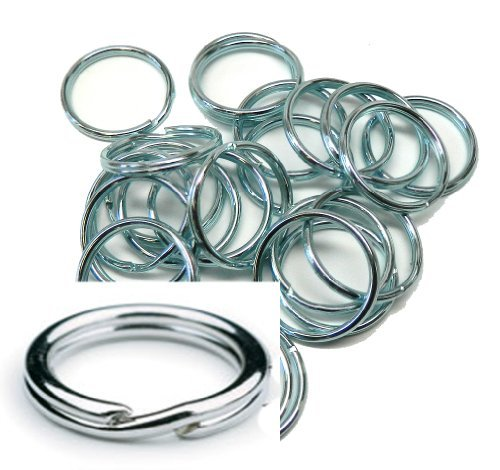 - 24 Rings 1-1/4 Inch Split KEY Ring Connector Keychain Zink Plated Spring Steel Made in the USA