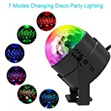 Sound Activated Party Lights, KUMEDA Disco Ball Strobe Lights with Remote Control 7 Colors Stage Lights for Christmas Parties DJ Karaoke Wedding Outdoor Holidays Dance Parties.
