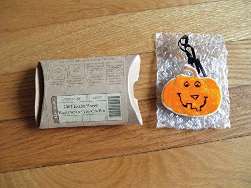 Longaberger Large Happy Halloween Tie-on/Pin 2004