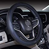 """Mayco Bell Microfiber Leather Small Steering Wheel Cover (14"""" - 14.25"""",Black)"""