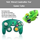 Poulep 2 Packs Classic Wired Gamepad Controllers for Wii Game Cube Gamecube Console (Deep green and Moss green)