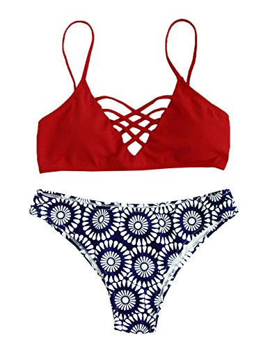 Dark Red Bikini Set in Australia - 6
