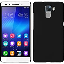 Hardcase for Huawei Honor 7 - rubberized black - Cover PhoneNatic + protective foils