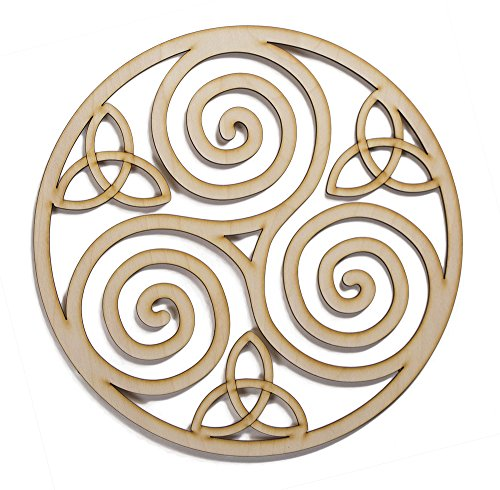 Fourth level mfg designs triskelion celtic knot triskele