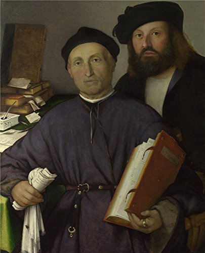 - Polyster Canvas ,the Reproductions Art Decorative Canvas Prints Of Oil Painting 'Lorenzo Lotto Giovanni Agostino Della Torre And His Son Niccolo ', 24 X 30 Inch / 61 X 75 Cm Is Best For Nursery Artwork And Home Artwork And Gifts