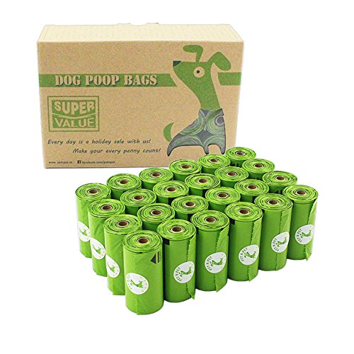 PET N PET 360 Counts Dog Poop Bags Doggie Waste Bags Unscented ( 24 Refill Rolls )