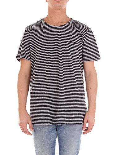 E Woolrich Wotee1123sx06 Blu Grigio shirt T Uomo wxBgwnTvCq