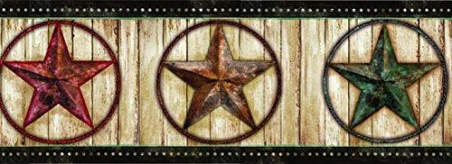 - Chesapeake PUR44661B Theo Black Weathered Barn Star Wallpaper Border