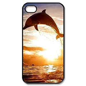 Hjqi - Customized Dolphins Phone Case, Dolphins Personalized Case for iPhone 4,4G,4S