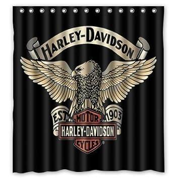 dce700209cf1a Harley Davidson Pattern High Qualität Custom Badezimmer Wasserdicht ...