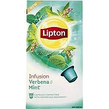 60 x LIPTON - Nespresso OriginalLine Compatible Capsules - INFUSION VERBENA MINT