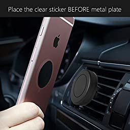 Metal Plate, Pop-Tech 4 Pack Universal Mount Metal Plate with Adhesive for Magnetic Car Mount Cell Phone Holder, 2 Rectangular and 2 Round