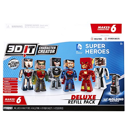 3D Character Creator DC Comics Deluxe Refill Pack Novelty Toy - Buy