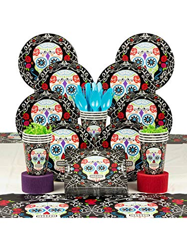 Costume Supercenter BBKIT1046 Day of the Dead Party Deluxe Tableware Kit ()