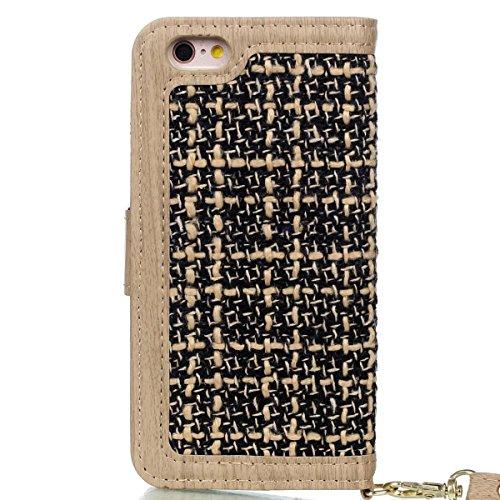 EKINHUI Case Cover IPhone 6S Plus Fall-Abdeckung, spinnender Muster PU-lederner schützender Fall-Mappen-Standplatz-Fall mit Einbauschlitzen und Foto-Feld für Apple IPhone 6S plus 5.5 Zoll ( Color : 4