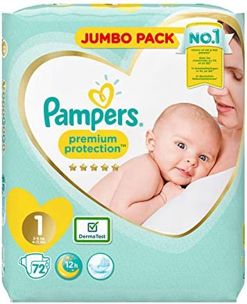 Pampers Premium Protection Size 1 26 Nappies 2kg-5kg