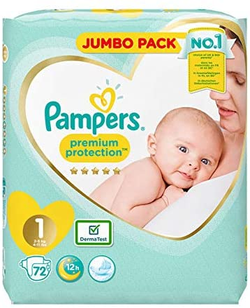 Pampers Gr/ö/ße 1/New Baby Jumbo-Box Windeln/ /72/St/ück Windeln