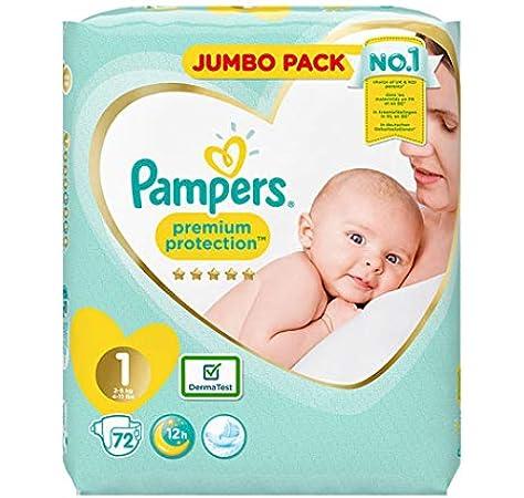 Pampers Caja de pañales jumbo para recién nacido, talla 1 ...