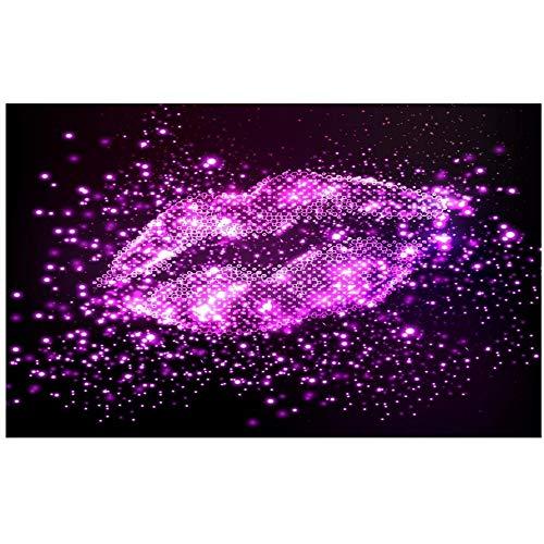 (LSFHB Custom 3D Photo Wallpaper Mural Living Room Pink Lips Aperture 3D Painting Ktv Sofa Tv Background Wall Non-Woven Wall)