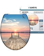 Schütte WC-bril SUNSET SKY met automatische sluiting, toiletdeksel met motief en snelsluiting voor het reinigen, Duroplast wc-deksel (max. belasting van de wc-bril 150 kg)
