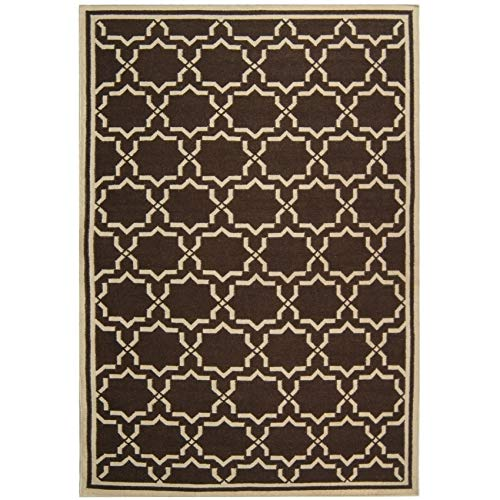 Safavieh Hand-Woven Moroccan Reversible Dhurrie Chocolate/Ivory Wool Rug - 4' x ()