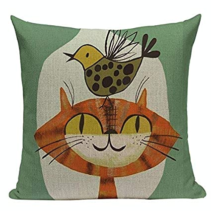 Amazon.com: Hugh Harrod Fashion Cushion Cover Cute Animal ...