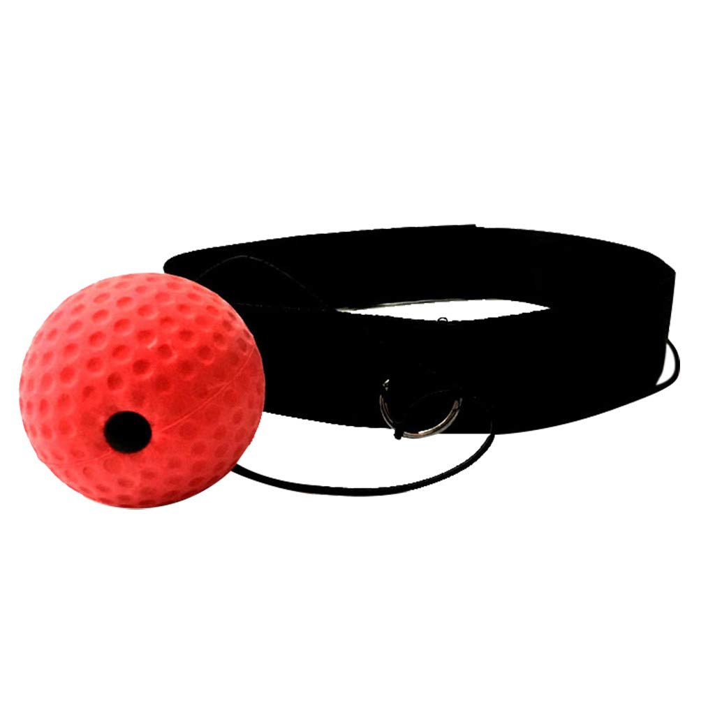 Staron  Boxing Fight Ball Reflex with Head Band Speed Training Boxing Punch - Boxing Punch Exercise Fight Ball React Reflex Ball (Pink)