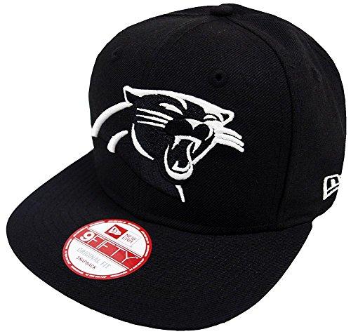 うがい薬内部儀式New Era Carolina Panthers Black White Logo Snapback Cap 9fifty Limited Edition