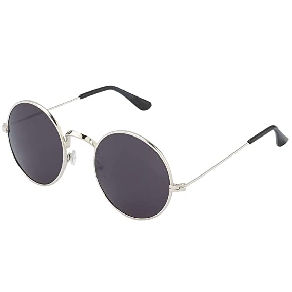 13a233c70a Y S UV Protected Metal Frame Sunglasses for Men   Women (Black)  Amazon.in   Clothing   Accessories