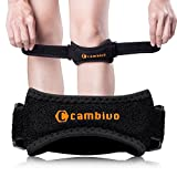 Cambivo 2 Pack Knee Strap Brace, Knee Pain Relief & Patella Band, Knee Band Support for Hiking, Soccer, Basketball, Running, Tennis, Volleyball, Squats & Tendonitis