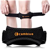 CAMBIVO Patella Knee Strap, 2 Pack Pain Relief Knee Brace & Patellar Tendon Support Band for Running, Hiking, Volleyball, Jumpers Knee, Tendonitis, Arthritis and Injury Recovery