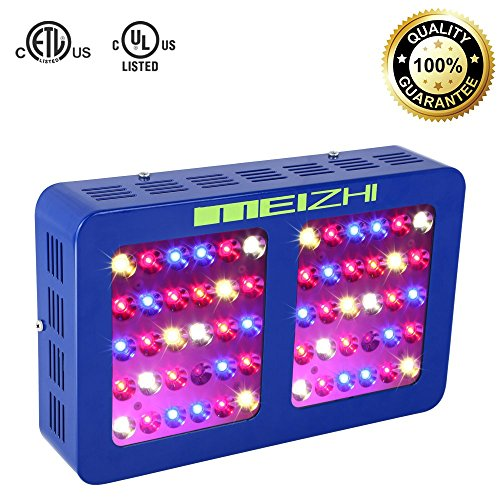 MEIZHI LED Grow Light Reflector Series 300W Full Spectrum for Indoor Plants Veg and Flower Dual Growth and Bloom Switches by MEIZHI